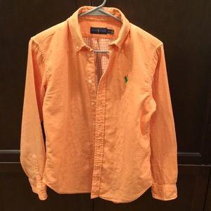 Ralph Lauren Polo Orange Button Down - Small